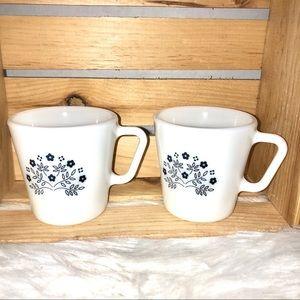 Vintage! Pyrex D Summer Expression Mugs